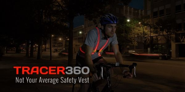 Biking Tracer360 - Not your Average Safety Vest